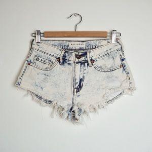 BULLHEAD High Rise Acid Wash Denim Shorts